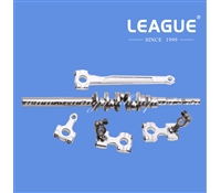 12372603 Connecting Rod, 12132106 Knife Driving Rod, 12375051 Upper Looper Arm Asm., 12375150 Lower Looper Arm A Asm., 13205554 Crank Shaft Asm. for Juki MO-6900G